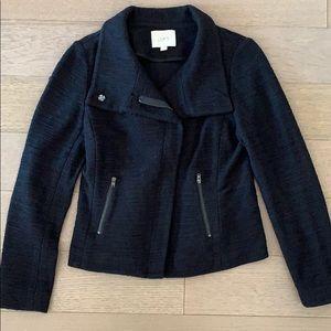 Ann Taylor Loft Black Tweed Moro Jacket